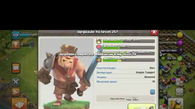 CLASH OF CLANS BARBARIAN KING LEAVEL 70 FULL MAX