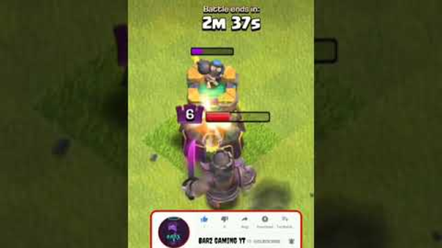 Max Bomb Tower vs Barbarian King Clash of Clans #Shorts
