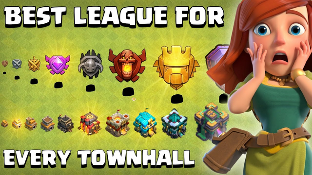 Best LEAGUE of FARMING For EVERY TOWNHALL in Clash of clans - Coc