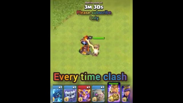 Max inferno tower vs Max barbarian king CLASH OF CLANS  EVERY TIME CLASH #shorts