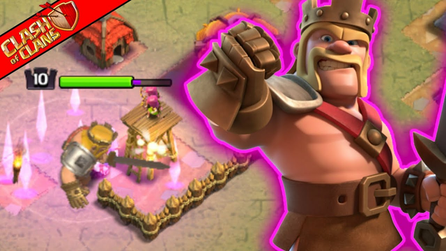 Max King LV10! Iron Fist Ability | Town Hall 8 Clash of Clans