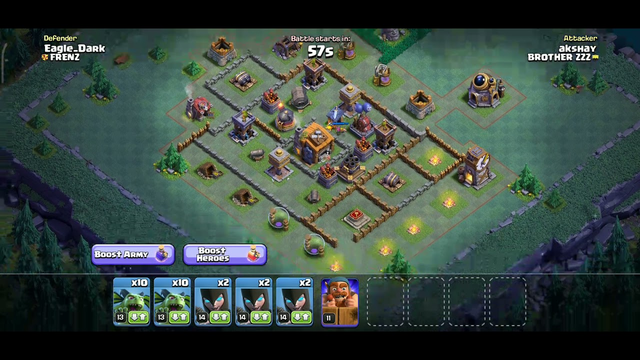 Clash of Clans witch, minion attack #COC