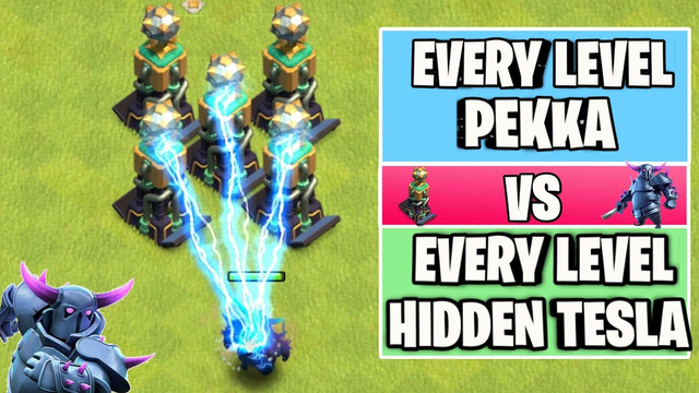 Every Level P.E.K.K.A Vs Every Level Hidden Tesla   Clash of clans