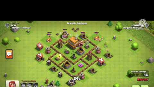 Clash of Clans - TH4 (Challenging by Clan members)