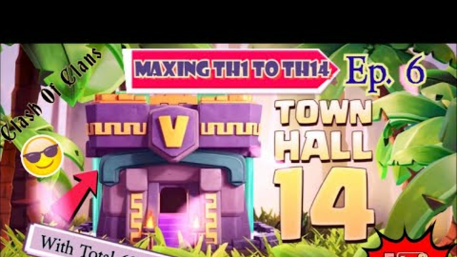 Maxing TH14 from TH1 With Total 62Millon Gems | Clash Of Clans Max Th14 With Gems Part--6