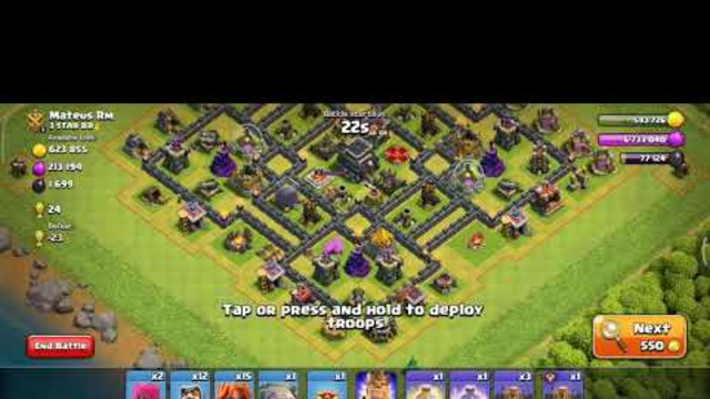 Clash of Clans | Town Hall 8 | Attack strategy