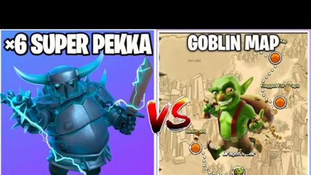 3 Star Challenge On Coc    Super P.E.K.K.A Vs Goblin Map    Clash Of Clans   