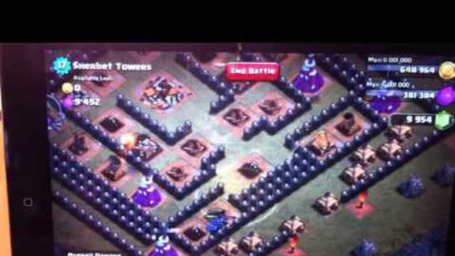 Clash of Clans Sherbet Towers 3 stars