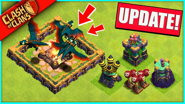 CLASH OF CLANS UPDATE IS HERE!? NEW TROOP LEVELS, DEFENSES, DRAGONS... FINALLY!!