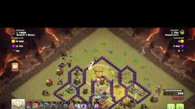 Clash of clans - TH8 War attack