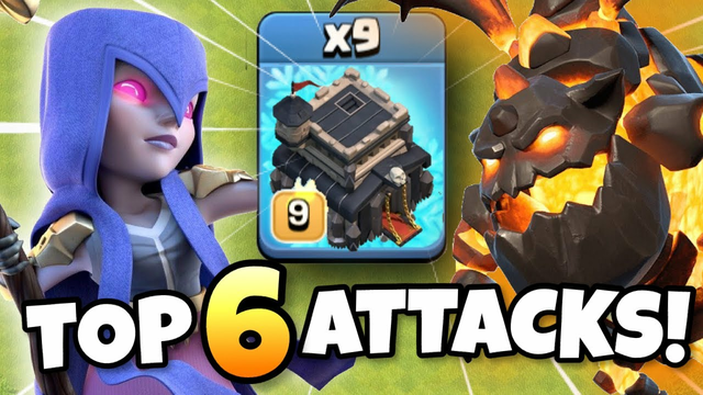 TOP 6 BEST TH9 ATTACK STRATEGIES FOR 2021 | Clash of Clans