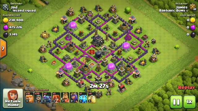 Clash Of Clans Best Attack   Barbaric Bums   Carbine James  