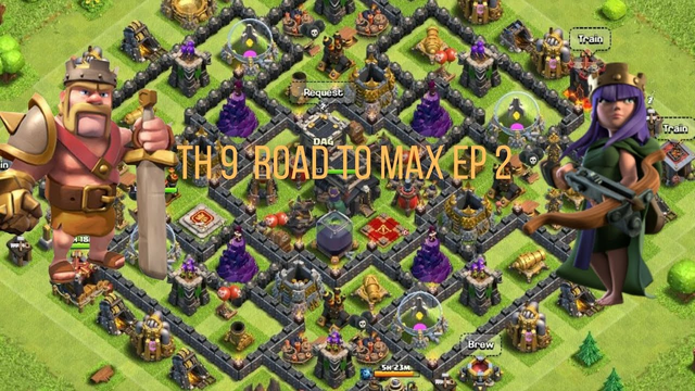 Clash of Clans TH 9 -Road to Max Ep 2-