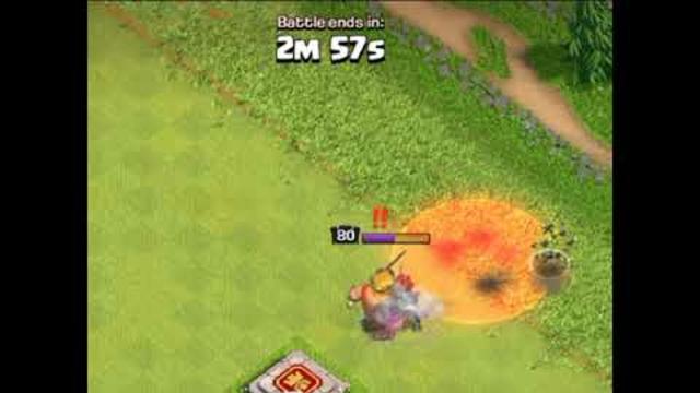 Barbarian king vs Skeleton spell || clash of clans