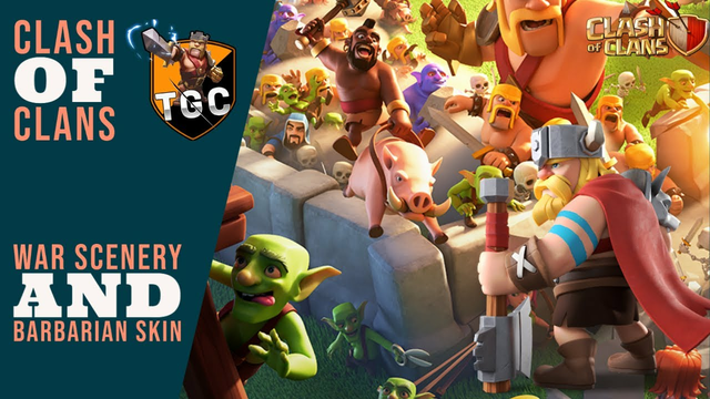 Clash Of Clans - New War Scenery and New Barbarian King Skin - June 2021