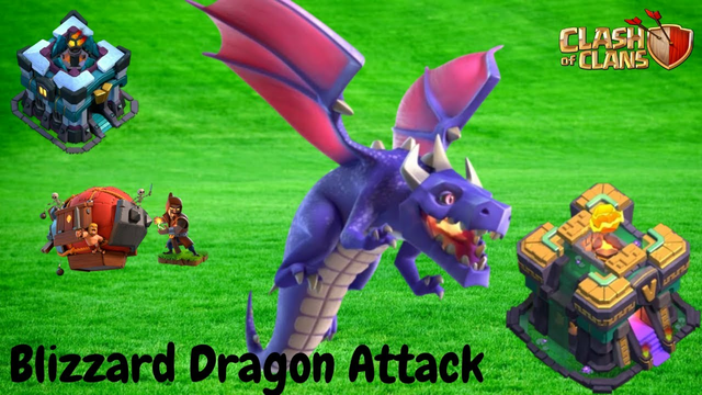 TH13 and TH14 Blizzard Dragon Attack | Clash of Clans Tutorial