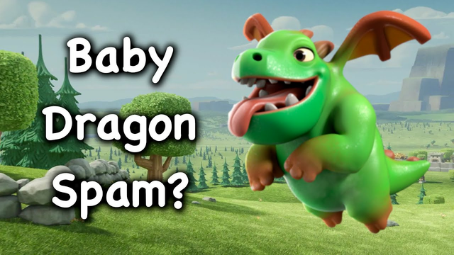 Clash of Clans - Town Hall 9 Baby Dragon Spam Attack