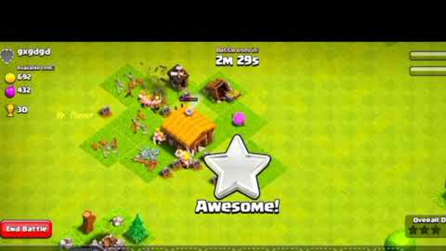 Clash of clans //Attack on Town hall 1 //Victory