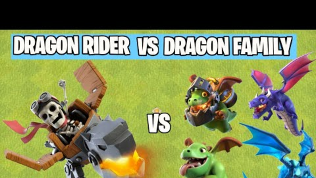 DRAGON RIDER ATTACK | Dragon Family Vs Dragon Rider On Coc | Clash Of Clans |