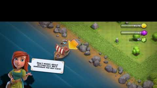 CLASH OF CLANS #4 TRAVEL IN SHIP IN NEW PLACE