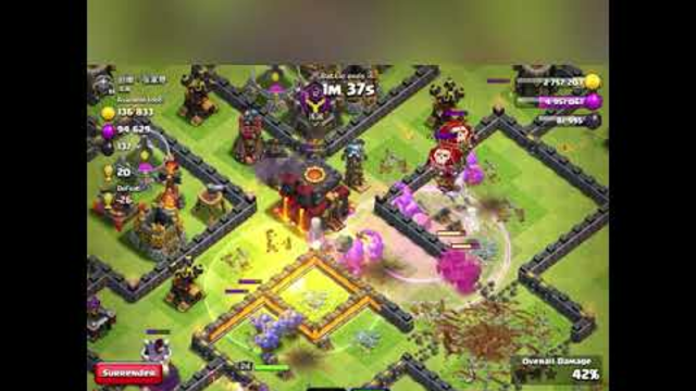 Rushed TH10 attacks. (Clash Of Clans)