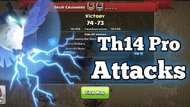 Skull Crushers | Crushed 10 War Win Streak | Th14 Pro War Attacks | Clash Of Clans
