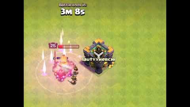 level 25 barbariang king vs max super valkry || clash of clans
