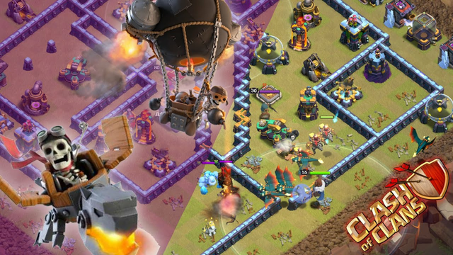 Air Hybrid Attack: Dragon Riders, Rocket Balloons! (Clash of Clans)