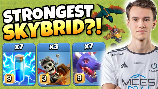 MCES use ZAP SKYBRID more than ANY OTHER ATTACK! Clash of Clans eSports | World Championship PreQual
