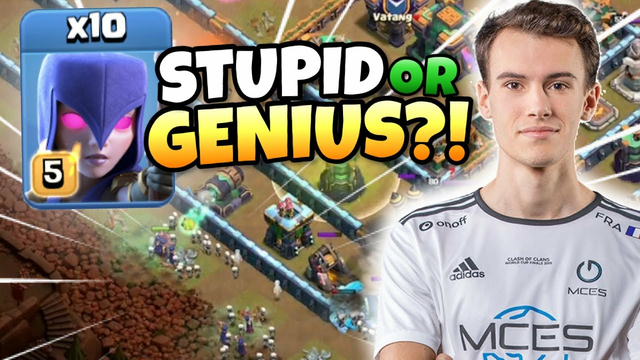 STUPID or GENIUS?! MCES takes HUGE RISK with CRAZY WITCH ATTACK! Clash of Clans