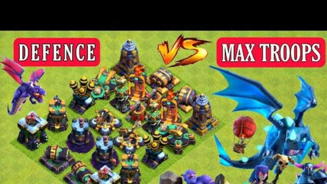 Clash of clans Ultimate Defense Formation Vs Max Troops | Who can Survive? | #coc #clashofclans