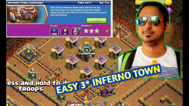 easy 3* like a pro - clash of clans Inferno town challange with swag   No need even All troops   CWK