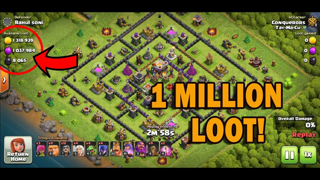Clash Of Clans 2021 | Easy 1 Million LOOT - MUST WATCH!
