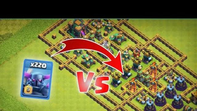 max P.E.K.K.A Vs maze   clash of clans.