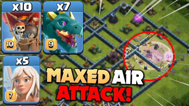 Th14 Dominating LEGEND LEAGUE with MAXED DRAGON-BALLOON Queen Funnel Strategy - Clash Of Clans