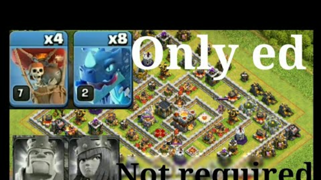 Th11 triple attack without king and Queen... Clash of clans... Coc