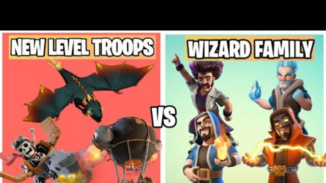 Wizard Family Vs New Level Troops On Coc | Summer COC Update | Clash Of Clans |