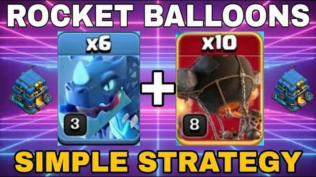After Update! E-Drag With Rocket Balloons TH12! Clash of clans