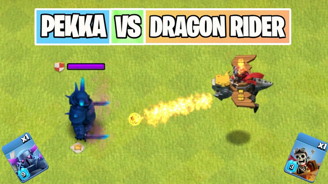 P.E.K.K.A Vs Dragon Rider | Troop Comparison | Clash of clans Summer Update