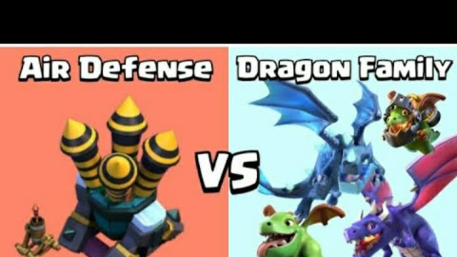 clash of clans dragon family vs air defence