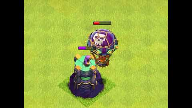 Max Balloon vs Max Wizard Tower - Clash of Clans. #Shorts #cocshorts #clashofclans