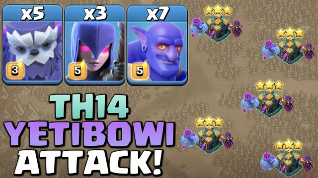 TH14 Yeti Witch Bowler Combo Is Still Best Ground Attack, YETIBOWI Strategy 2021 - Clash Of Clans