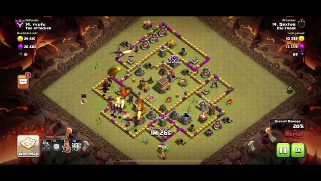 Clash of Clans - Town Hall 7 | Clan War Attack 2 - All Dragon