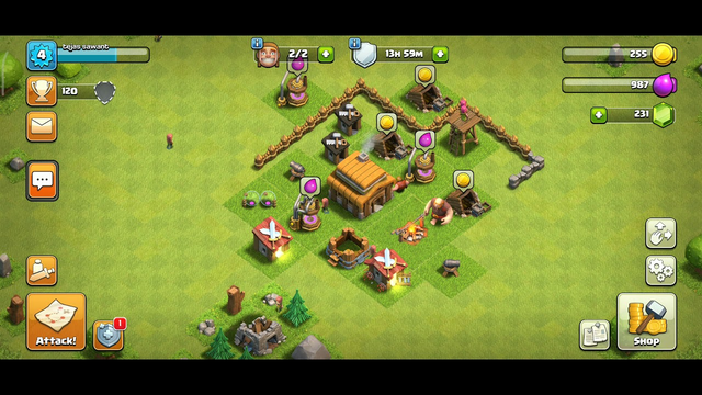 Clash of clans, town hall 3 , soon town hall 4 , new game