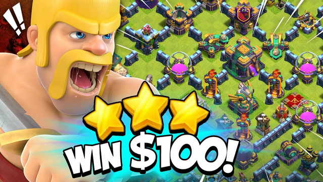 I Challenged My Clan to 3 Star Unbeatable TH 14 Base for $100 (Clash of Clans)