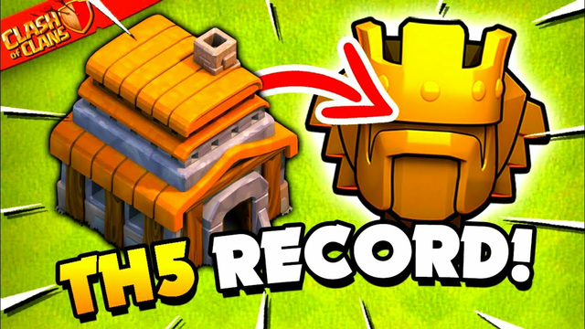 World Record for TH5 in Titan League! Clash of Clans