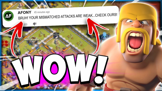 Random Clan Has The Best TH12 Vs TH13 Attack in Clash of Clans?!