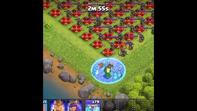 Archer Queen + clone spell Vs full defense Archer Queen || clash of clans