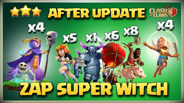 Best Th12 Super Witch Attack Strategy   Th12 Zap Super Witch - Th12 Super Witch - Clash Of Clans Coc