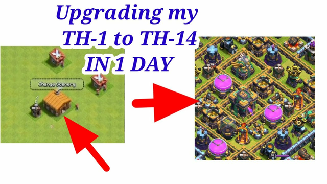 Upgrading my clash townhall 1 to 14 in 1day | clash of clans